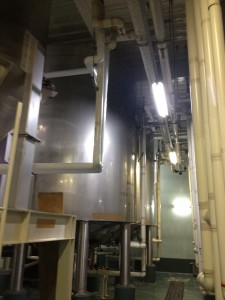 Huge fermentation tanks