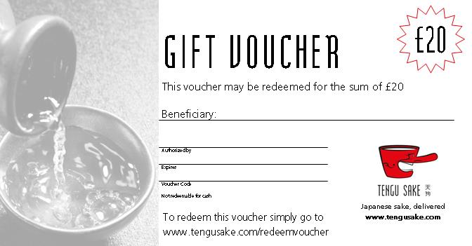 Tengu Sake Gift Voucher